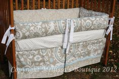 Custom Suzani YOUR Choice To CUSTOMIZE 2-Piece Boutique Crib Nursery Bedding Set with Piping or a Ruffle