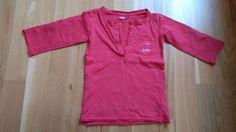 Rotes 3/4 Arm-Shirt mit Brusttasche