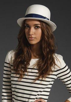 65029a2fff73a Straw Bowler Hat TopShelfClothes.com Nautical Looks