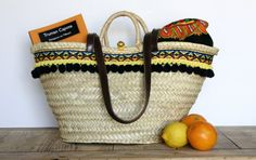 Classic Straw Bag with Handles. Capazo / woven / Mediterranean basket / market bag/ beach bag / tote / Made in Spain by Mimeyco.