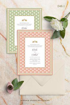 Hindu Wedding Cards, Indian Wedding Invitation Cards, Wedding Invitation Card Design, Pocket Wedding Invitations, Destination Wedding Invitations, Wedding Card Design, Printable Wedding Invitations, Wedding Stationery, Invitation Wording