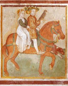The Labours of the Months, Santa Maria, Mesocco, Tessin, CH  Pitture murali lungo la parete Nord della navata di Santa Maria in tre sequenze...
