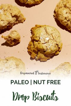 This paleo drop biscuit recipe features cassava flour and ghee. The result is a buttery, tender grain-free drop biscuit. Paleo recipes are gluten free, dairy free, and refined sugar free to support reduced inflammation. Healthy Bread Recipes, Paleo Bread, Paleo Baking, Allergy Free Recipes, Paleo Meals, Paleo Biscuits, Drop Biscuits, Dairy Free, Grain Free