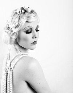 zwart wit fotografie/ jaren 20/ twenties/ filmsterren make-up