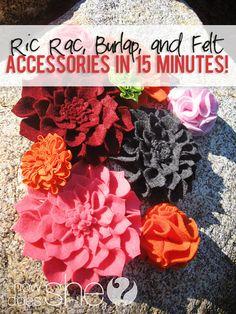 ric rac burlap and felt accessories  #howdoesshe #quickaccessories #burlapideas howdoesshe.com