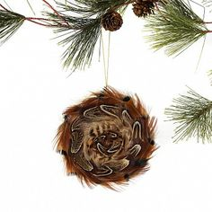 Christmas Ornaments made with Pheasant Feathers - beautiful idea ...
