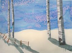 Winter Landscapes with Birch Trees - Artsonia Lesson Plan