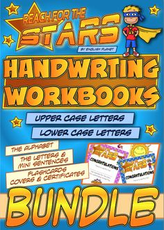 #BUNDLE - #handwriting Workbooks (upper and lower case letters) - #Common #Core L.K.1