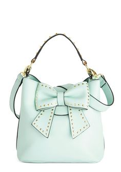 Betsey Johnson Outfit of the Daring Bag in Mint by Betsey Johnson - Mint, Gold, Solid, Bows, Studs, Work, Best, Green, Faux Leather, Daytime...