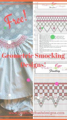 Smocking Plates, Smocking Patterns, Sewing Patterns Free, Free Sewing, Skirt Patterns, Coat Patterns, Blouse Patterns, Baby Sewing, Smocking Baby