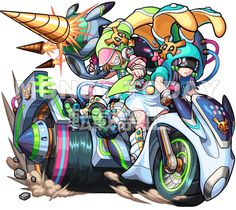 デッドラビッツLtd.弐 概要 - モンストTODAY Character Concept, Character Art, Yugioh Decks, Monster Strike, Superhero Design, Unusual Art, Fantastic Art, Tentacle, Digimon