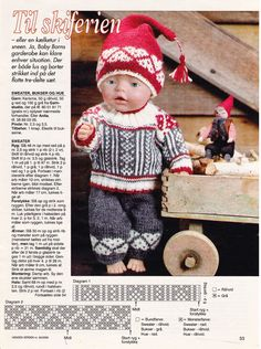Album Archive - Dukketøj til Baby Born 2 - Ingelise Doll Sewing Patterns, Doll Clothes Patterns, Knitting Patterns, Ag Dolls, Reborn Dolls, Girl Dolls, Crochet Bow Pattern, Teddy Bear Clothes, Knitting Dolls Clothes