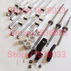 400.00$  Watch now - http://alizui.worldwells.pw/go.php?t=32714768980 - 3pc lead ballscrews ball screws + 3 set SBR rails +3set BK/BF12+3 couplings