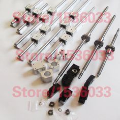 299.00$  Buy now - http://ali6wy.worldwells.pw/go.php?t=32735893744 - 3 SBR16 sets +3 ballscrews RM1605+3BK/BF12 +3 couplers