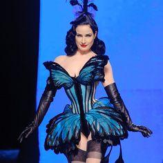 Dita Von Teese, Jean Paul Gaultier Haute Couture Fashion Week Spring 2014
