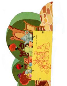 Vintage Free Printable Alice in Wonderland paperdolls / diorama (part III)