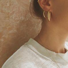 layered hoop earrings