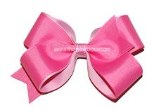 Large Hot Pink and Wild Orchid Bow  Valentine's Day hair bow  www.thepinkbow.com