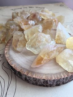 Raw Citrine  Citrine Crystals  Raw Stones  by CatchingWildflowers