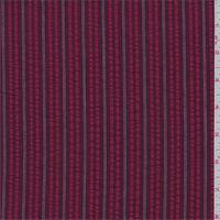 Red/Maroon Stripe Seersucker