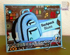 Cricut Recess Back To School Card using CDD Stamps