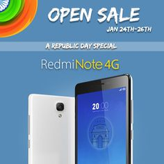 Open Sale/No Registration - Buy Redmi Note 4G android smartphone for 9,999 at Flipkart  #Redmi #xiaomi #RedmiNote #RedmiNote4G #Smartphone #Flipkart #RepublicDay #Shopping #india
