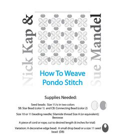 Pondo Stitch Tutorial / African Circle Stitch /Use by Beadweaver