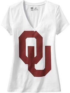 V-Neck Tee | Old Navy $17.50 Oklahoma OU Boomer Sooner Gameday Crimson Cream OKU shirt football fan sports Norman @UniversityofOklahoma