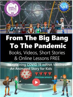 From the Big Bang to mRNA Vaccines: We are made of Stardust that was once in the bodies of Albert Einstein and the Last T-Rex. Transmedia storytelling for late elementary and middle school students in award-winning books, videos, short stories, and online jigsaw lessons. Funded in part by the National Science Foundation. Science Videos, Science Resources, Science Education, Teaching Science, Short Stories Online, Kids Pages, Award Winning Books, Online Lessons, Middle School Science
