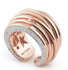 Mezzaluna ring by Al Coro. Rose gold is the absolute best thing that has ever been invented.