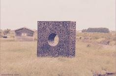 """AMERS Biennale Art & Nature Île d'Oléron juillet > septembre 2016 Sculpture: """"Le Cercle Carré"""" Artiste: David Vanorbeek www.vanorbeek.com"""