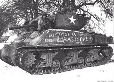 Sherman Tank Cobra King - WWII, Battle of the Bulge, first tank to break through.