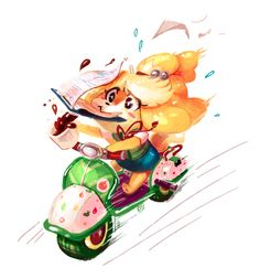 Hurry up, Isabelle! Animal Crossing Fan Art, Animal Crossing Characters, Animal Crossing Memes, New Leaf, Game Art, Your Pet, Pokemon, Cute Animals, My Arts
