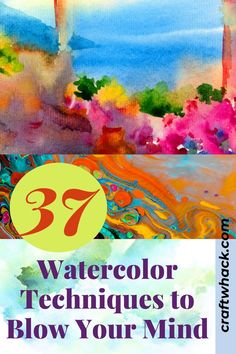 It's time to explore more about watercolor techniques, and once you start, you'll want to keep playing with watercolor all day long. These watercolor techniques will surely blow your mind. See more details on this pin! Diy Crafts For Adults, Crafts For Kids To Make, Easy Diy Crafts, Art For Kids, Watercolor Techniques, Art Techniques, Watercolour Tutorials, Unique Wall Art, Diy Wall Art