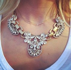 Antiqued Sparkle Inlaid Faux Crystal Rhinestone Luxury Bib Statement Necklace, http://www.amazon.com/dp/B00D9H9FY8/ref=cm_sw_r_pi_awd_8yjqsb027BDJN
