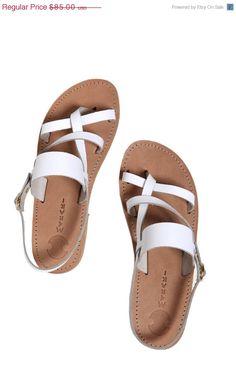Wedding Sandals, White Genuine Leather Sandals, Greek Style Sandals, Stylish Summer Sandal,Women's Shoes, Rhodes sandal in White by TheMerakiCompany on Etsy https://www.etsy.com/listing/192525029/wedding-sandals-white-genuine-leather