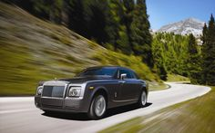 Amazing Beautiful Rolls Royce Car on Road High Quality Images
