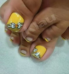 Uñasv Pedicure Designs, Pedicure Nail Art, Toe Nail Designs, Toe Nail Art, Nail Spa, Sexy Nail Art, Sexy Nails, Cute Toe Nails, Cute Acrylic Nails