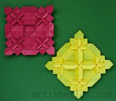 Origami blog with new models and diagrams, and creative ways to use and display origami models.