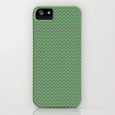 Lime and Pink Chevron iPhone & iPod Case by Cassie Peters - $35.00