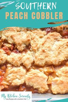 Easy, homemade peach cobbler is made with fresh peaches and other delicious ingredients such as cinnamon, vanilla, and sugar. Topped with a delicious buttery sweet crust. Makes 4-6 servings.
