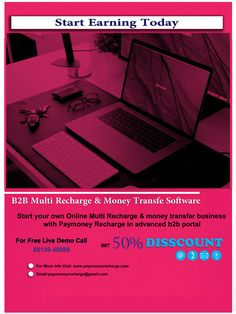 Start Your Own Brand Name Business With Paymoney Recharge Web-Based High Technology Advance B2B Recharge Portal With Android Application. Paymoney Recharge is the Fast Growing Business Advance Multi Recharge Company in Sirsa. Now sending money has also become easier and with easy Paymoney recharge, within advanced money transfer software, you Growing Business, Online Mobile, Fast Growing, Mobile Application, Software Development, Brand Names, Portal, Online Business, Web Design