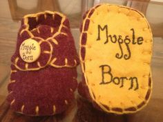 Harry Potter baby Gryffindor 'Muggle Born' red by MoosMakery, $15.58
