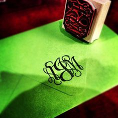 Get your letters on a monogrammed stamp for your bid day cards! (It's just that much more official!) #GTTR