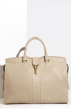 Yves Saint Laurent 'Large' Leather Satchel - when cost doesn't matter.