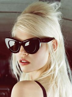 Ola Rudnicka in Céline sunglasses, photographed by Camilla Åkrans for Vogue China, August 2014.