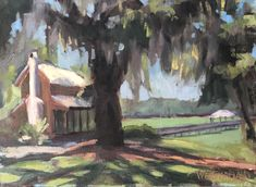 Perfect Morning- Susan Westmoreland. 9 x 12 inches. Oil on linen panel #impressionism #spanishmoss #