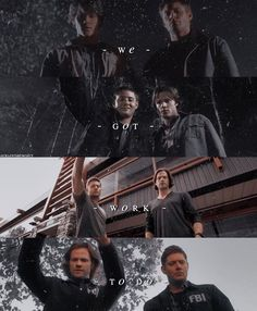 We got work to do. Supernatural Pictures, Supernatural Wallpaper, Supernatural Quotes, Supernatural Fandom, Sherlock Quotes, Sherlock John, Sherlock Holmes, Jim Moriarty, Watson Sherlock