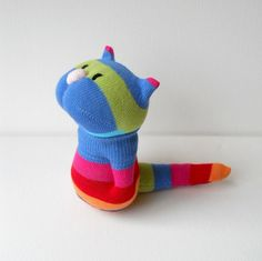 Sock Stuffed Animals | kitten, cat, sock animal, plush animal, sock doll, plushie, rainbow ...