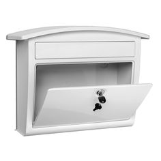 Architectural Mailboxes Dal Rae 16.4-in x 13-in Metal White Lockable Wall Mount Mailbox  Architectural Mailboxes Dal Rae 16.4-in x 13-in Metal White Lockable Wall Mount Mailbox  Architectural Mailboxes Dal Rae 16.4-in x 13-in Metal White Lockable Wall Mount Mailbox  Architectural Mailboxes Dal Rae 16.4-in x 13-in Metal White Lockable Wall Mount Mailbox Architectural Mailboxes Dal Rae 16.4-in x 13-in Metal White Lockable Wall Mount Mailbox $50  (Lowes)